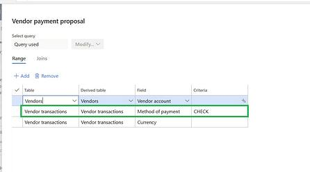 Dynamics 365 Finance Payment Processing - filters2